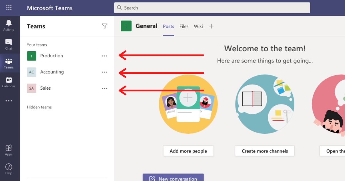 Example of the best way to use Microsoft Teams