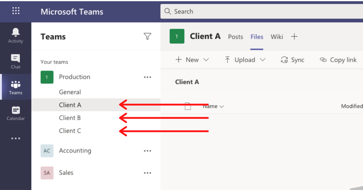Another illustration of the best way to use Microsoft Teams
