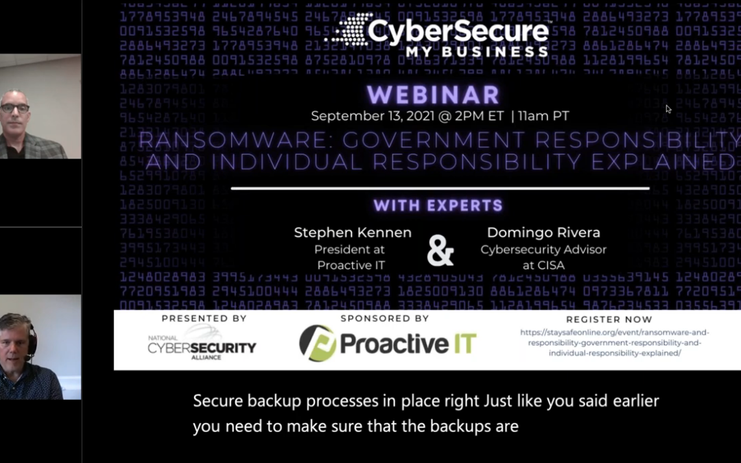 10 Takeaways from My Conversation with CISA and the NCSA on Ransomware